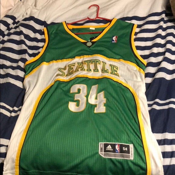 best sneakers 45c5f f13ce Ray Allen throwback Seattle Supersonics jersey NWT